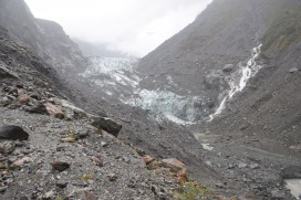 Fox Glacier! A lot dirtier than you'd expect