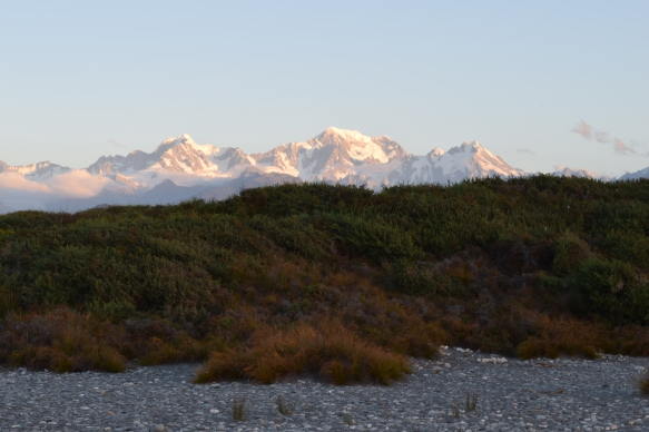 Sunset over the Southern Alps